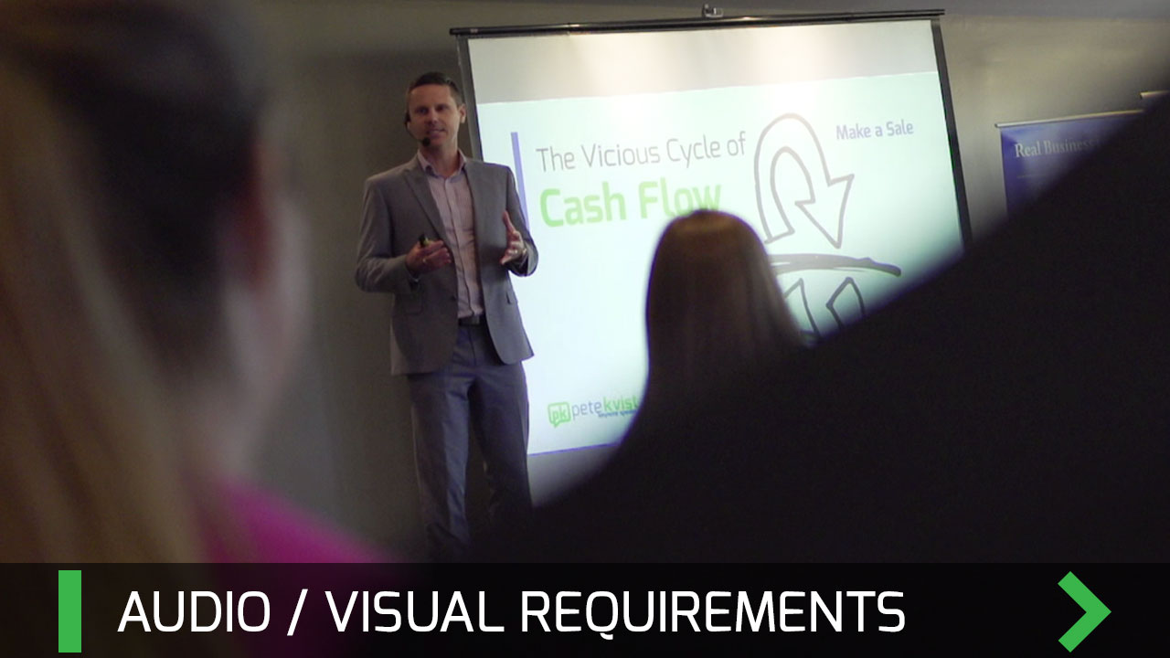 Audio Visual Requirements - Pete Kvist