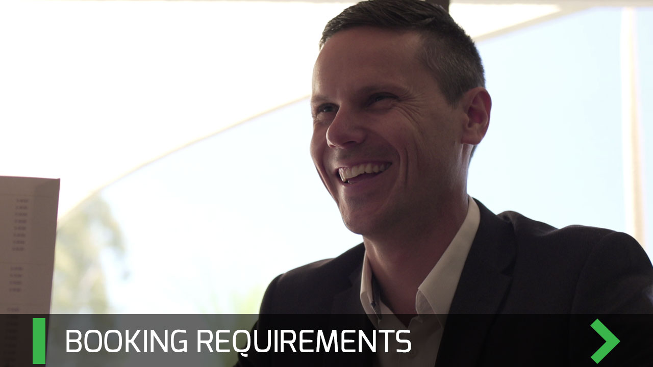 Booking Requirements - Pete Kvist